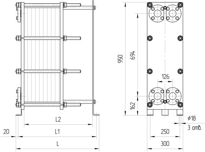 Теплообменник ридан нн 14 схема подключения Пластинчатый теплообменник Alfa Laval M15-MFL Зеленодольск